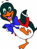 Dancing Cartoon Fairy Penguin