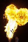 stock photo of breather  - Fire explosion from an fire - JPG