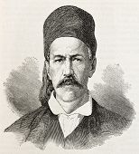 B. Roufos old engraved portrait (member of provisional Greek government). Created by Chenu, publishe