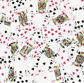picture of playing card  - A lot of playing cards scattered around - JPG