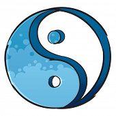 Símbolo del yin y el yang artística