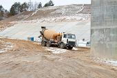 Truck Operator Pouring Cement