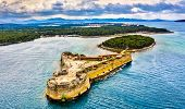 St. Nicholas Fortress At St. Anthony Channel Near Sibenik In Croatia poster