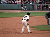 Giants Andres Torres Takes Lead From Second Base