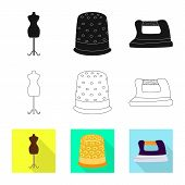 Vector Illustration Of Craft And Handcraft Icon. Set Of Craft And Industry Vector Icon For Stock. poster