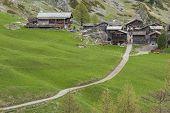 Hiking Path From Furi To Zermatt, Switzerland poster