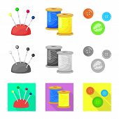 Isolated Object Of Craft And Handcraft Icon. Set Of Craft And Industry Stock Symbol For Web. poster