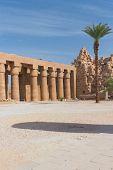 Постер, плакат: Первый двор храма в Карнак Египет