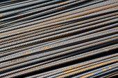 Steel Rebar In Pile Up