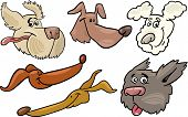 picture of newfoundland puppy  - Cartoon Illustration of Different Happy Dogs or Puppies Heads Collection Set - JPG
