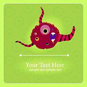 stock photo of glow-worm  - Fantastic monster vector background with place for text - JPG