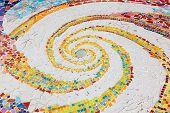 Colorful Tile Spiral Pattern Background