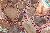 Colorful Tile And Rock  Pattern Background