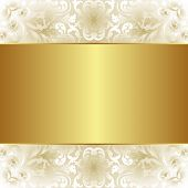 Creamy And Gold Background