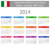 2014 Italian Type-1 Calendar Mon-sun