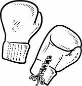 Boxhandschuhe-Skizze