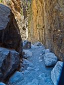 pic of samaria  - Pathway thru gorge to Samaria iron gate - JPG