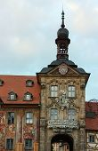 picture of regnitz  - Bamberg Old City Hall adorns the Regnitz river in Bavaria - JPG