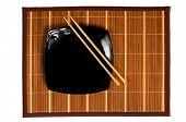 Black Plate With Chopsticks