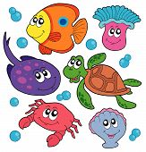 Cute Marine Animals Collection poster