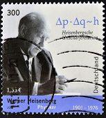 GERMANY - CIRCA 2001: A stamp printed in Germany shows Werner Heisenberg circa 2001