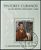 CUBA - CIRCA 1979: A stamp printed in Cuba shows portrait of Victor Manuel Garcia circa 1979