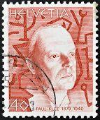 Schweiz ca. 1990: eine Briefmarke gedruckt in der Schweiz zeigt Paul Klee, circa 1990