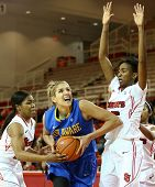 NEW YORK-JAN 2: Delaware Blue Hens guard Elena Delle Donne (11) shoots as St. John's Red Storm guard