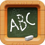 School blackboard icon