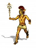 Greek God Mercury Running