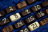 Chocolatepieces With Numbers