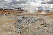 Fumarole Fields And Tourist Platform