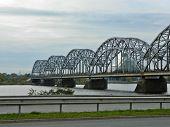 Bridge Over Daugava River In Riga. Latvia