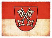Grunge Flag Of Regensburg (bavaria, Germany)