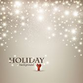 stock photo of glow  - Elegant Christmas background with snowflakes and place for text - JPG