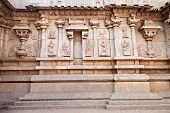 foto of belur  - Hindu temple wall with ornate carving Asia - JPG