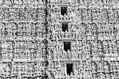 foto of meenakshi  - Different gods on Meenakshi temple facade - JPG