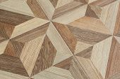 image of grout  - Close up wood grain pattern floor tiles decoration background - JPG
