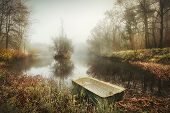 Boat On An Eerie Lake