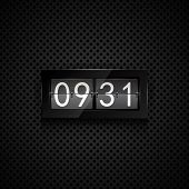 Vector flip clock