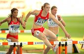 BARCELONA - JULY, 14: Noemi Zbaren of Switzerland during 100 meters hurdles of the 20th World Junior