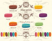 Tasty colorful french macaron