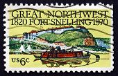 Postage Stamp Usa 1970 Fort Snelling, Minnesota