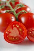 Sliced Fresh Cherry Tomato