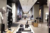 pic of department store  - luxury and fashionable european different clothes shop - JPG