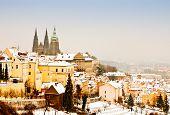 Panorama Of Prague In Winter