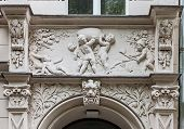 foto of building relief  - Facade of Art Nouveau buildings in Berlin - JPG