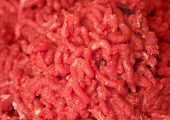 Background Texture Of Homemade Fresh Chopped Meat
