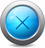 Web Button With Cross Mark
