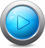 Web Button With Play Icon